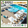Brand new outdoor wpc decking anti-uv composite wood plastic decking material