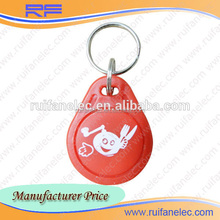 Professional factory supply proximity tag rfid keytag em4100 125khz with customized logo