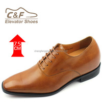 Oxford Brogue Toe Italian Style Brand Dress Shoes Height Increasing Men Shoes