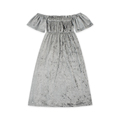 2018 Latest Baby Girl Velvet Frock Design With Off Shoulder Short Sleeve Dress For Party Birthday For 0-6 Years Children