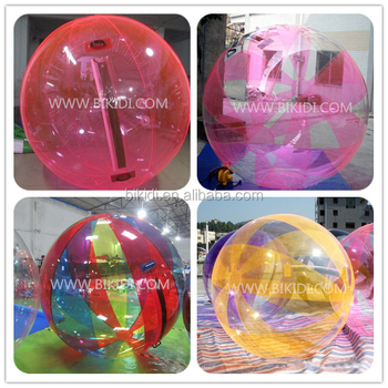 Colorful inflatable water walking ball inflatable water bubble for sale D1009