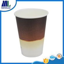 16oz 450ML Custom fading color Printed Disposable Paper Coffee Hot Drinks Cups with logo