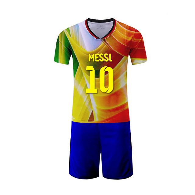 Blue and white soccer uniforms 100% polyester top quality polyeser sports wear football shirt