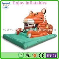 2015 new style tiger inflatable bouncer slide high quality inflatable toys funny animal inflatable bouncer slide for sale