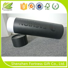 Shenzhen factory black cardboard t-shirt packaging tube