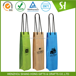 non woven wine bottle tote bag wholesale/water tote bag wholesale