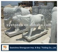 hand carved marble elephant stone sculpture