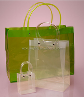 Clear mirror surface tube handle plastic shopping bags