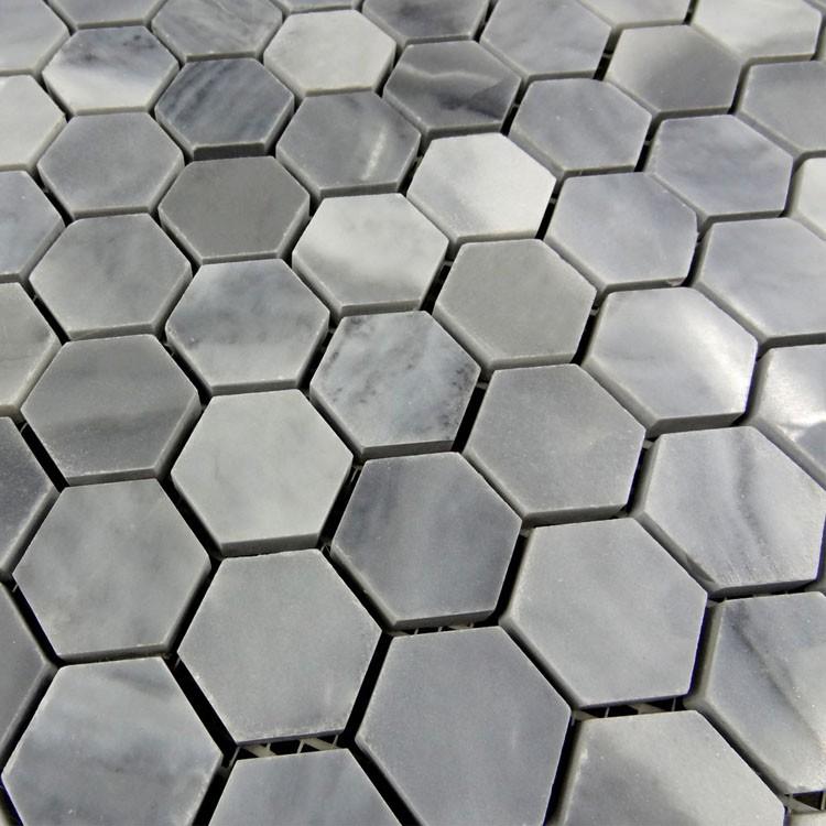 이탈리아 회색 육각 바닥 대리석 모자이크 타일 벽 및 바닥 ...