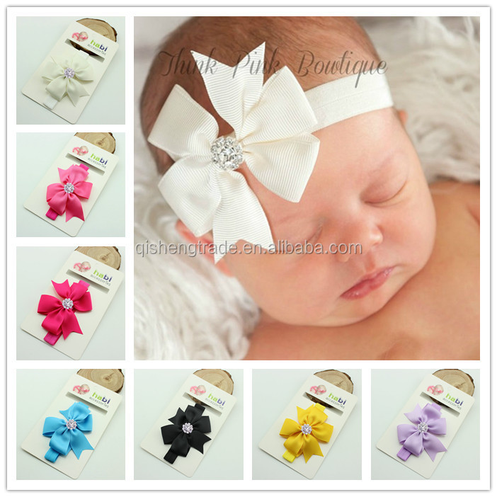 New Large Sparkle Sequin bow elastic headband, stripe head wrap with shiny bow for baby gilrs hair accessories wholesale