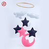 China factory price pig felt baby crib mobile hanger