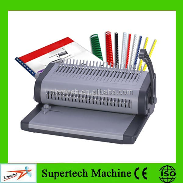 The Single Handle Manual Plastic Comb Punch Machine for Book Binding