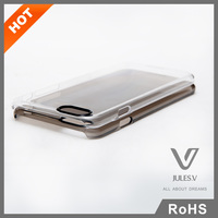 "Clear-view untra thin flip hard clear crystal phone pc case for iphone 6 plus 5.5"" ,for iphone 6 clear case"