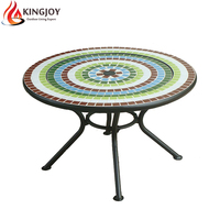 Garden Supplier mosaic tile top table fire pit with BBQ grill