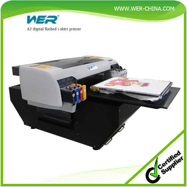 Popular A2 WER-D4880T dtg printer high print resolution fast speed, t shirt printing machine for sale