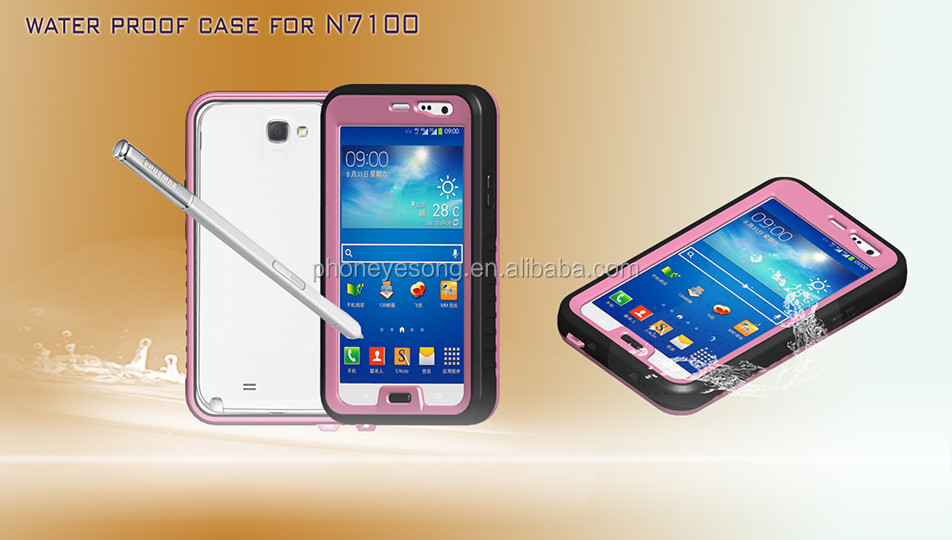 high quality waterproof cellphone case for Samsung galaxy note2 n7100