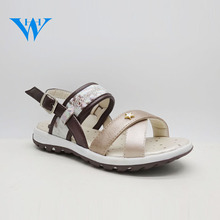 2017 Fashion anti-slip sole childrens summer footwear girls soft PU leather sandals