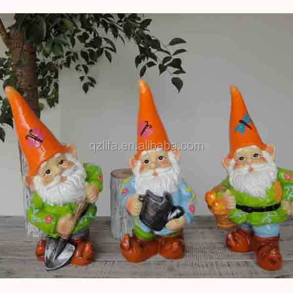 Miniature 3 garden Resin Gnomes Set