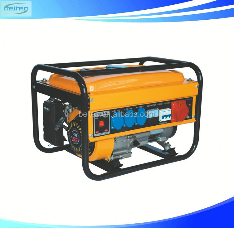 2KW Hand Start CE Approved Home Price Gasoline Generator 5.5HP