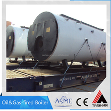 Wet back structure 1000kg/hr Oil &Gas fired boiler for mixing plant industry