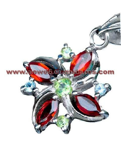Fields Of Summer !! Rainbow Mystic Topaz 925 Sterling Silver Pendant, Indian Handmade Silver Jewellery, 925 Silver Jewellery