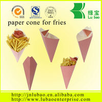 D270 big size paper cone for french fries or chips in brazil