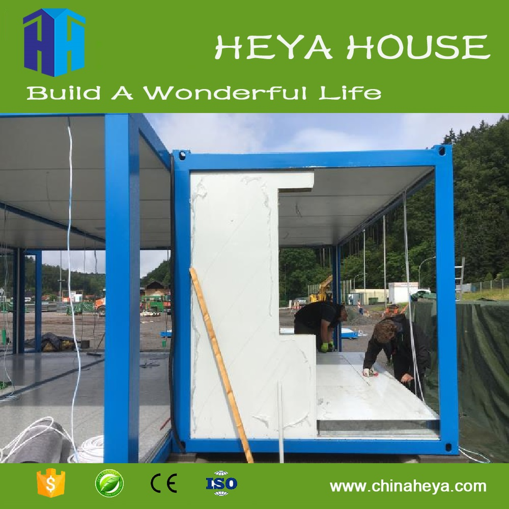Design glass modular south america container shelter homes