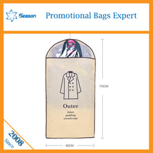All size available Non-woven mens suit foldable garment bag garment cover Travel suit cover