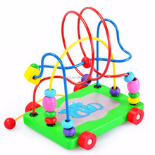 Children Wooden Toy Mini Around Beads Maze Education Toys