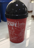 public garden cafe shop school recycle garbage plastic waste bin plastic container