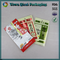 Moistureproof plastic pouch manufacturer dired food packaging bag with side gussets