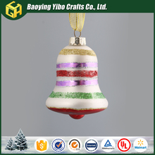 Wholesale painted glass bell for christmas ornament