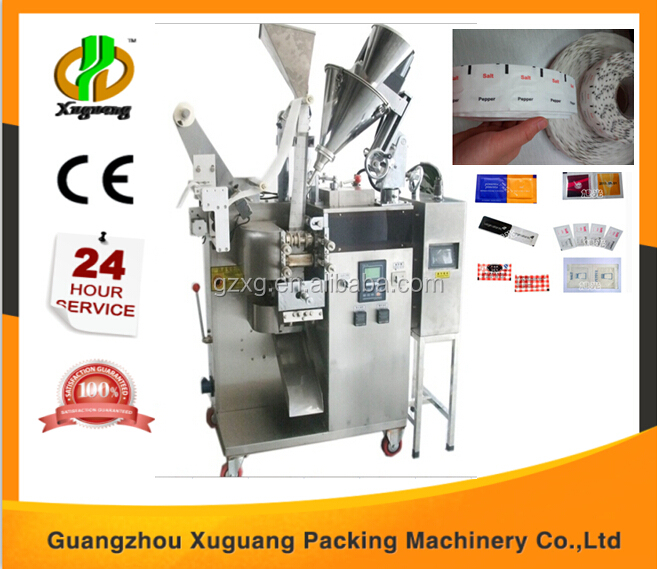 Full automatic flight food double lanes salt and pepper packing machine