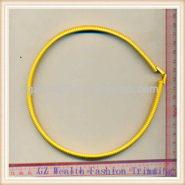 2014 Fashion gold metal necklace ,collar design for clothes decoration