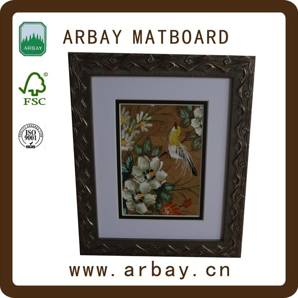 Wholesale MDF Pine wood 11x14 inches wooden wood picture photo frame with double matt board