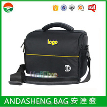 free shipping free single shoulder canvas black leather camera bag for Nikon