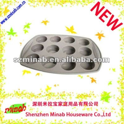 2102 new design silicone 12 deep cups muffin pan