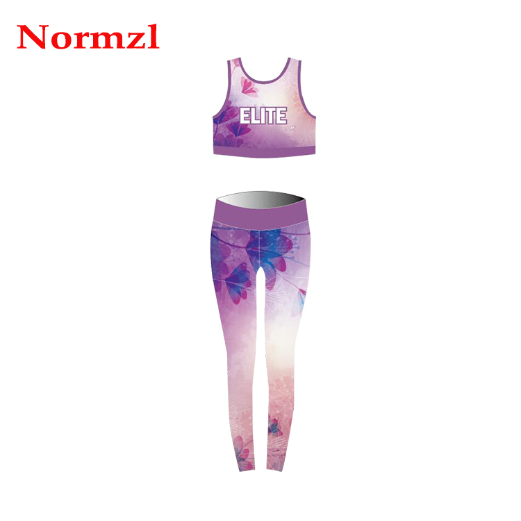 Wholesale Custom Sublimation Women Activewear Sportswear Sports Bra And Legging Sets
