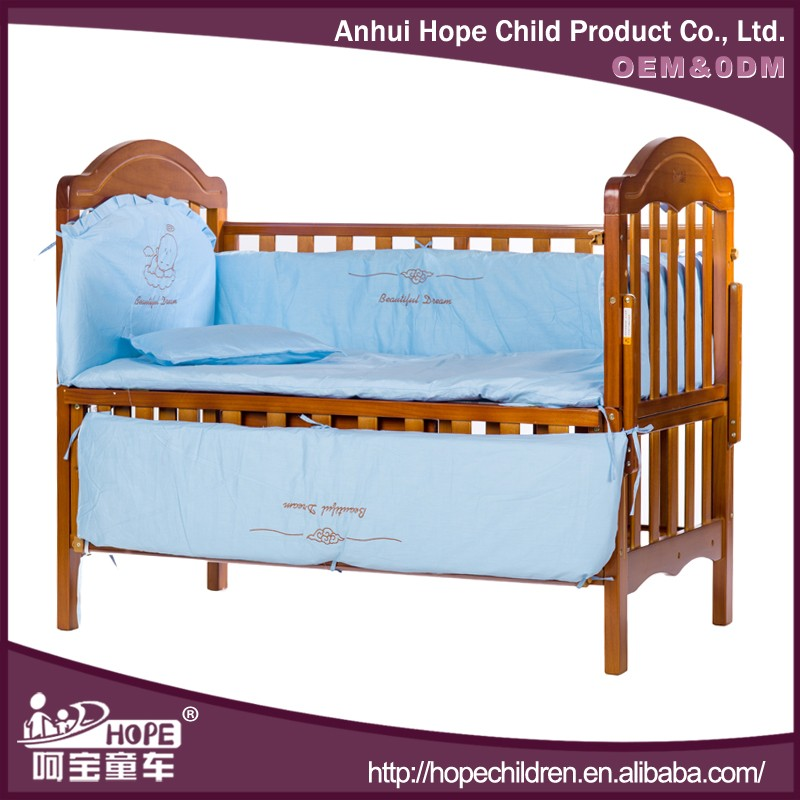 New Cherry Paint Baby Bed Prices Folding Solid Wood Bed Crown