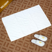 China suppliers white hotel home textile jacquard towels cotton bath mat set
