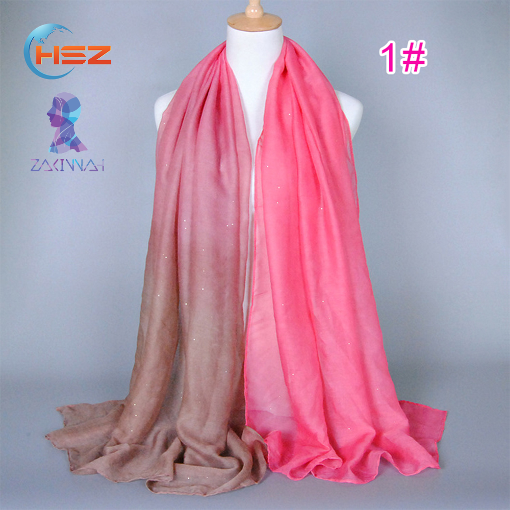 HSZ-T185 Latest Design 2017 Custom Hijab Ladies Sexy Scarf Muslim Women Fashionable Islamic Turban Dubai Classic Scarves Shawls