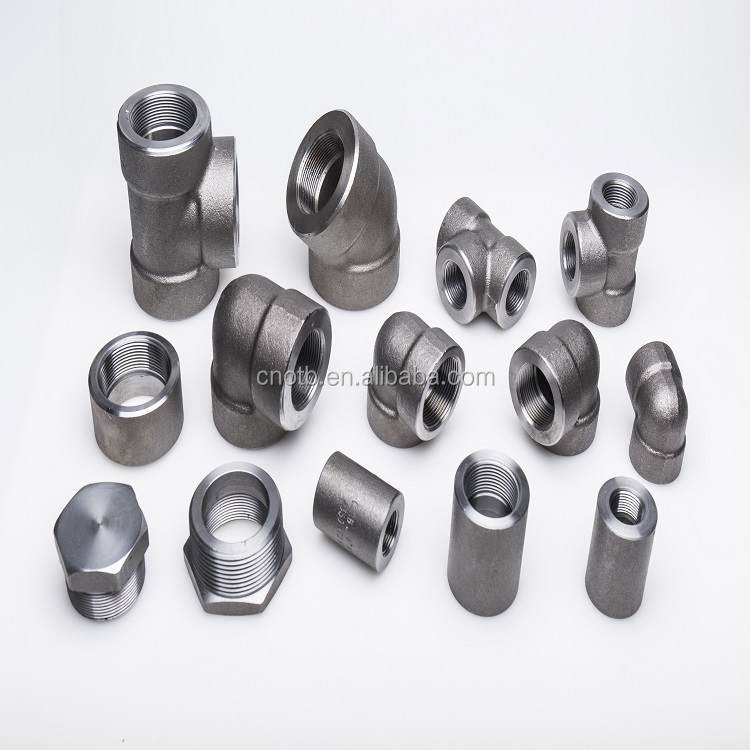 Forged high pressure cs ss socket weld pipe fittings