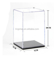 Clear Acrylic/Plastic Display Box Case Dustproof Tray Protection Cube 10*7*7cm