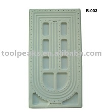 Bead board PVC material covered with flocking as your request