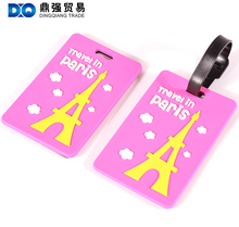 Travel ID name rubber cartoon luggage design 3d bag tags