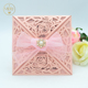 Hot sale luxurious rose laser cut white pearl elegent invitation card wedding favors