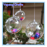 80mm Clear Acrylic Fillable Christmas Plastic
