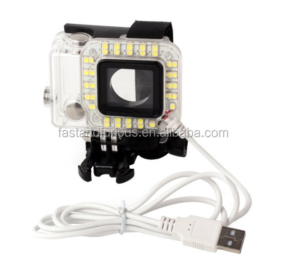 Wholesale High quality LED Flash Ring Fill Light for Gopro Hero 3+/4