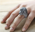 Cartoon Cute animal seal jewelry accessories ring