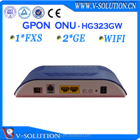Media converter,GPON ONU 2GE+1POTS+WiFi Router,FTTH ONT